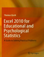 .Excel 2010 for Educational and Psychological Statistics pptx