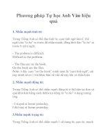 Phương pháp Tự học Anh Văn hiệu quả potx