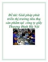Đề tài: Giải pháp phát triển thị trường tiêu thụ sản phẩm tại công ty giầy Thượng Đình Hà Nội. pptx
