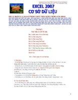 Excel 2007-Cơ sở dữ liệu doc
