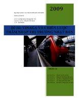 tiểu luận vinaga và chiến lược thâm nhập thị trường nhật bản