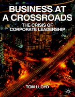 Business at a Crossroads The Crisis of Corporate Leadership_1 ppt