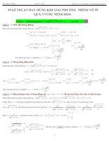 10 kĩ thuật giải phương trình vô tỉ (ôn thi đại học cấp tốc )