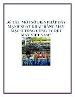 """ĐỀ TÀI """"MỘT SỐ BIỆN PHÁP ĐẨY MẠNH XUẤT KHẨU HÀNG MAY MẶC Ở TỔNG CÔNG TY DỆT MAY VIỆT NAM"""" pptx"""