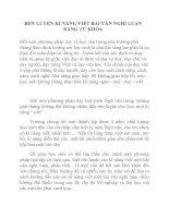 RÈN LUYỆN KĨ NĂNG VIẾT BÀI VĂN NGHỊ LUẬN BẰNG TỪ KHÓA pptx