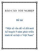 """Đề tài """"Một số vấn đề về đổi mới kế hoạch 5 năm phát triển kinh tế xã hội ở Việt Nam"""". ppt"""