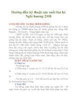 Hướng dẫn kỹ thuật sản xuất lúa lai Nghi hương 2308 potx