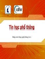 Nhập môn công nghệ thông tin-Bài 4 ppt
