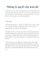Những bí quyết cho mùa thi pdf