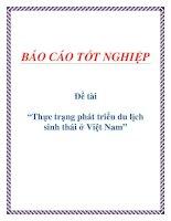 """Đề tài """"Thực trạng phát triển du lịch sinh thái ở Việt Nam"""" pptx"""