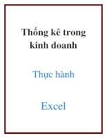 Thống kê trong kinh doanh thực hành Excel doc