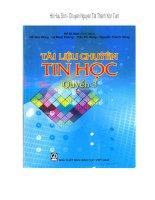 Tài Liệu Giáo Khoa Chuyên Tin Quyển 3 - Tập 1 pptx