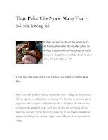 Thực Phẩm Cho Người Mang Thai Bổ Mà Không Bổ ppt