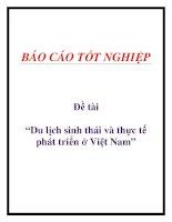 """Đề tài :""""Du lịch sinh thái và thực tế phát triển ở Việt Nam"""", docx"""