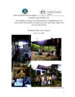 Báo cáo khoa học nông nghiệp