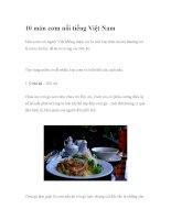 10 món cơm nổi tiếng Việt Nam docx