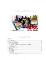 Hướng dẫn sử dụng phần mềm SPSS toàn tập
