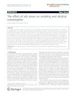 Azagba and Sharaf Health Economics Review 2011, 1:15 pot