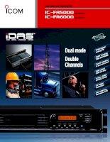 hướng dẫn sử dụng, cài đặt máy bộ đàm icom fr5000, fr6000