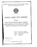 Một số giải pháp phát triển thi trường in ấn công ty TNHH thương mại và sản xuất DPP