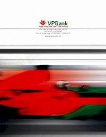 báo cáo thường niên 2010 ngân hàng việt nam thịnh vượng vpbank chuyển đổi mạnh mẽ để thành công