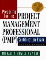 Education Preparing For The Project Management Professional_1 potx