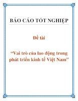 """Đề tài: """"Vai trò của lao động trong phát triển kinh tế Việt Nam"""" docx"""