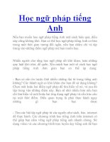 Học ngữ pháp tiếng Anh ppt