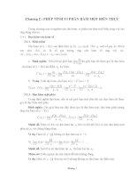 chương 2 phép tính vi phân hàm một biến thực
