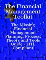 The Financial Management Toolkit The Missing Financial Management Planning Process Theory and Tools Guide ITIL Compliant_1 pdf