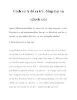 Cách xử lý để ra trái đồng loạt và nghịch mùa pdf