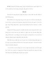 Đề bài: Trong buổi lễ đăng quang, Lang Liêu đã kể cho mọi người nghe về sự ra đời của hai loại bánh chưng, bánh giầy. docx