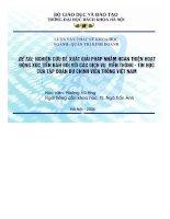 luận văn nghiên cứu đề xuất giải pháp nhằm hoàn thiện hoạt động xúc tiến bán đối với các dịch vụ viễn thông - tin học của tập đoàn bưu chính viễn thông việt nam