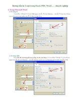 Hướng dẫn in 2 mặt trong Excel. PDF, Word chuyên nghiệp docx