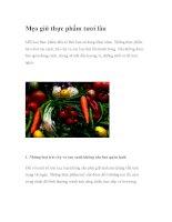 Mẹo giữ thực phẩm tươi lâu pdf