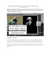 Hướng dẫn sử dụng Photoshop CS5 - Phần 7: Thiết kế và trình bày với Type Character Panel pdf