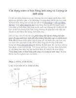 Các dạng toán cơ bản Sóng ánh sáng và Lượng tử ánh sáng doc