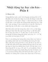 Nhiệt động lực học căn bản Phần 4 pdf