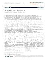 Graf von der Schulenburg and Braun Health Economics Review 2011, 1:9 potx