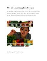 Mẹo tiết kiệm thực phẩm hiệu quả pdf