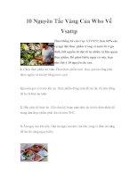 10 Nguyên Tắc Vàng Của Who Về Vsattp doc