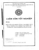 Một số giải pháp nâng cao hiệu quả hoạt động tài chính tại công ty TNHH dịch vụ thương mại sản xuất Không Gian Xanh