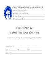 MẪU SỔ GHI CHÉP BAN ĐẦU VỀ DÂN SỐ VÀ KẾ HOẠCH HÓA GIA ĐÌNH pdf