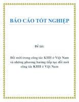 Đề tài: Đổi mới trong công tác KHH ở Việt Nam và những phương hướng tiếp tục đổi mới công tác KHH ở Việt Nam. pptx