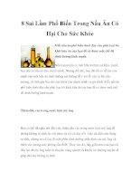 8 Sai Lầm Phổ Biến Trong Nấu Ăn Có Hại Cho Sức Khỏe doc