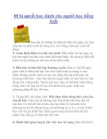 10 bí quyết hay dành cho người học tiếng Anh ppt