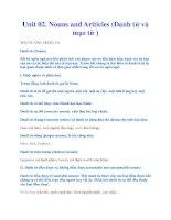 Unit 02. Nouns and Ariticles (Danh từ và mạo từ ) pdf