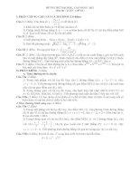 Đề thi thử đại học môn toán năm 2012_Đề số 10 pptx
