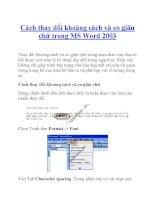 Cách thay đổi khoảng cách và co giãn chữ trong MS Word 2003 pptx