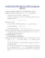 60 ĐỀ TOÁN ÔN THI TN THPT (có đáp án) Đề số 01 pdf